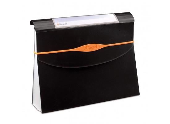 Rexel Optima 13-Part A4 Size Expander File - Black