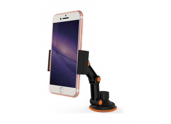 Promate RiseMount Universal Multi-Level 360 Rotatable Car Mount Holder for Smartphone Devices - Black