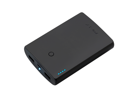 PNY Curve Series 10400 mAh  Portable Power Bank (P-B10400) - Black