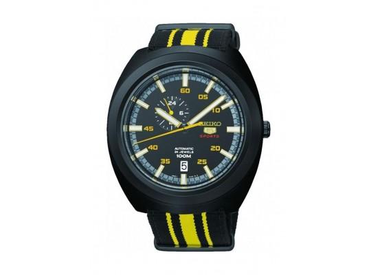 Seiko Mechanical Analog Gents Fabric Watch (A289J) - Yellow / Black
