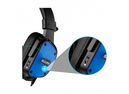 Sades Dpower Gaming Headset - Black/Blue 3
