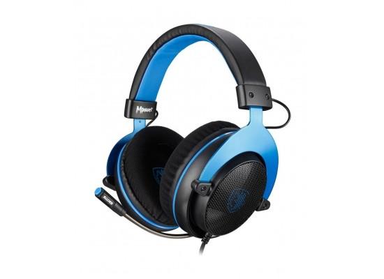 Sades Mpower Gaming Headset - Black/Blue 5