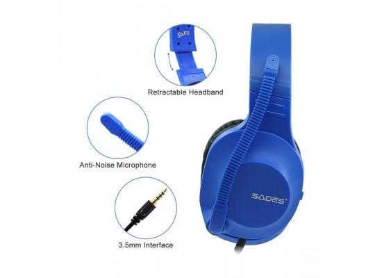 Sades Spirits Wired Gaming Headset - Blue 3