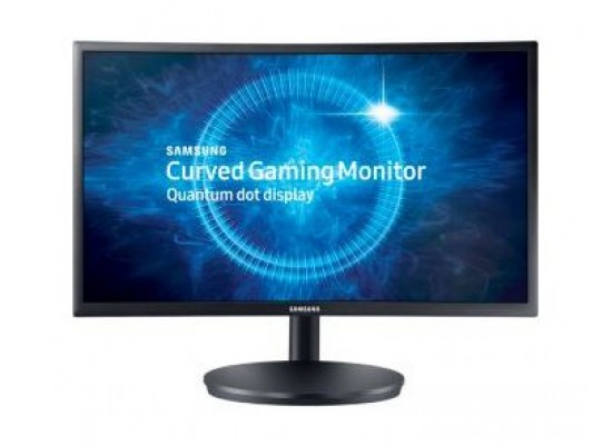 Samsung Full HD 24-inch LED Black Monitor (LC24FG70FQMXUE) - Front View