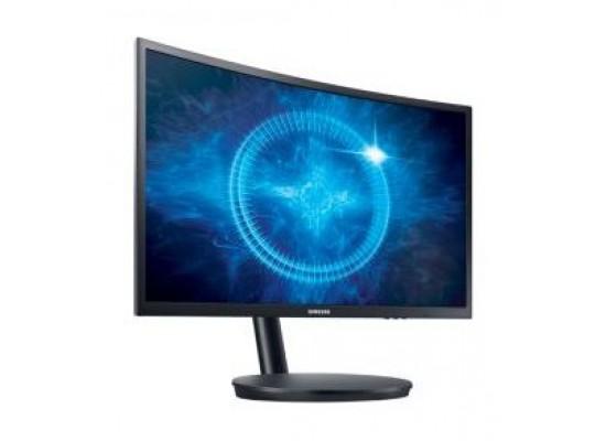 Samsung Full HD 24-inch LED Black Monitor (LC24FG70FQMXUE) - Left View