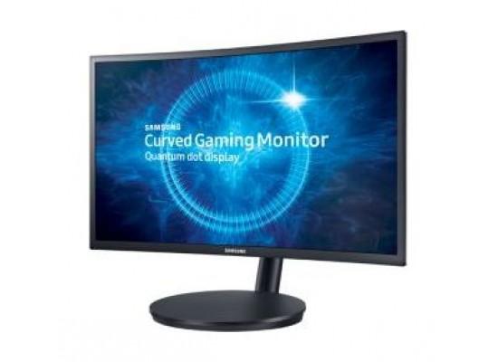 Samsung Full HD 24-inch LED Black Monitor (LC24FG70FQMXUE) - Right View