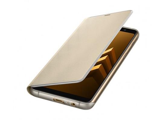 official photos f359c f21c2 Samsung Galaxy A8 Neon Flip Cover (EF-FA730PFEGWW) - Gold