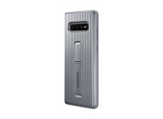 Samsung Galaxy S10 Plus Protective Standing Case - Silver 6
