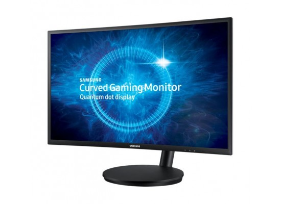 Samsung  LC27FG70FQMXUE  27 inch LED Curved Full HD Gaming Monitor Dark Blue & Black - Right View