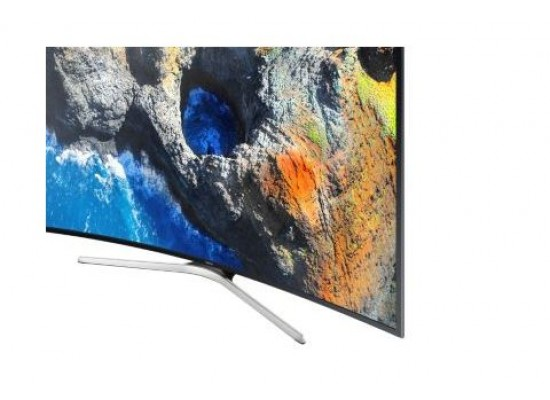 Samsung UA65MU7350 65 Inch Curved Smart UHD TV - Bottom Side View