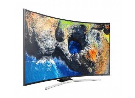 Samsung UA65MU7350 65 Inch Curved Smart UHD TV - Left View