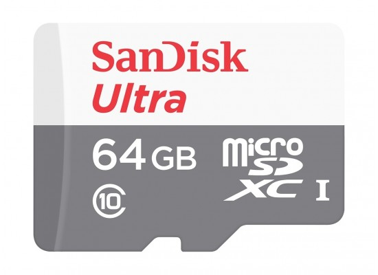 Sandisk 64GB Ultra microSDXC UHS-I Memory Card