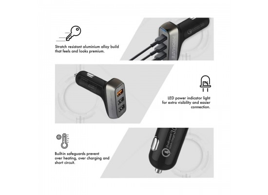 Promate 35W Qualcomm QC3.0 with 3 USB Ports (SCUD-35)
