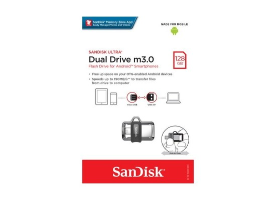 SanDisk 128GB Ultra Dual Drive m3.0 For Android Phones Pack Of 2