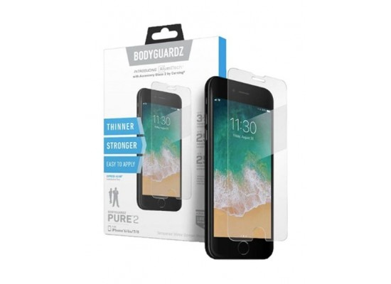 the latest 07309 dcb95 BodyGuardz Pure 2 Glass Screen Protector For iPhone X
