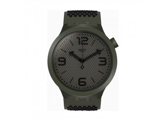 Swatch Bubbles Quartz Analog 47mm Unisex Rubber Watch (SO27M100)