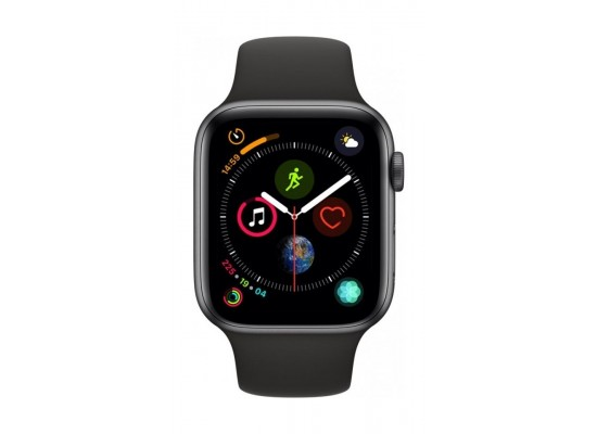 timeless design 60a2b bfb93 Apple Watch Series 4 44mm, Space Grey Aluminium Case, Black Sport Band