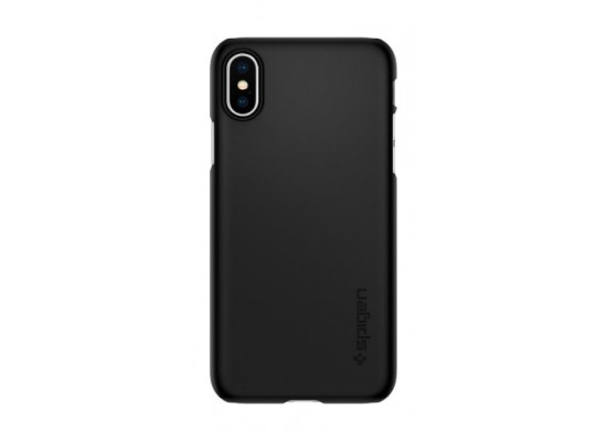 online retailer 98e05 254a6 Spigen iPhone XS Case Thin Fit (063CS24904) - Black