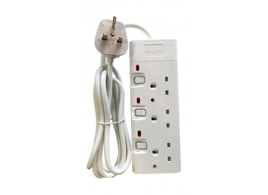 Philips 3-Sockets Power Extension 2M (SPN1932WB/56) - White