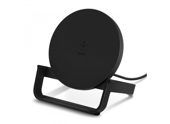 Belkin Boost Charge 10W Fast Wireless Charging Stand + Quick Charge 3.0 wall Charger - Black