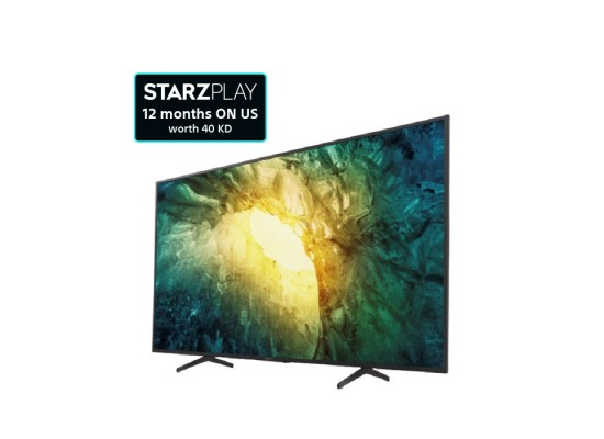 Sony TV 65-inches 4K Android LED - (KD-65X7500H)