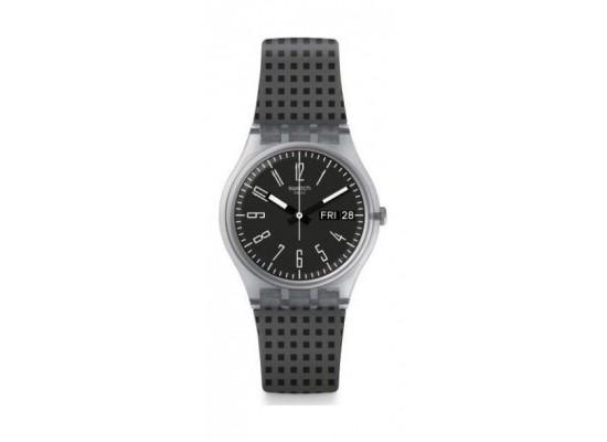 6d09ab12f سعر ساعة سواتش من المطاط بعرض تناظري للسيدات - ٢٥ ملم - أسود / أبيض ...
