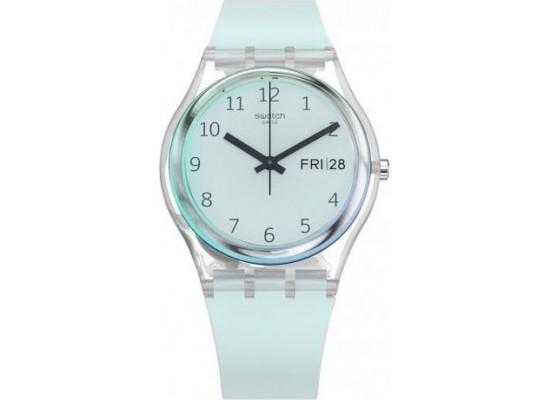 a77b537be اشتري ساعة سواتش بعرض تناظري مع حزام من المطاط للجنسين - ٣٤ ملم - أزرق (