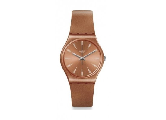 Swatch 34mm Unisex Analogue Rubber Watch (SWAGO118) - Brown