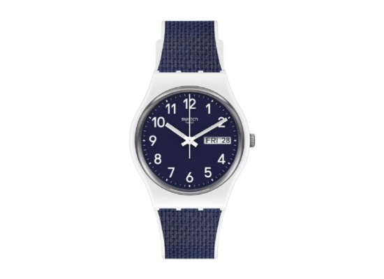 Swatch Quartz Analog 34mm Rubber Unisex Watch (SWAGW715)