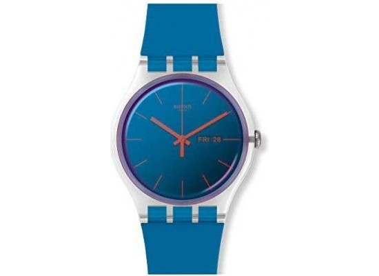 Swatch 41mm Analog Unisex Rubber Watch (SWASUOK711) - Blue