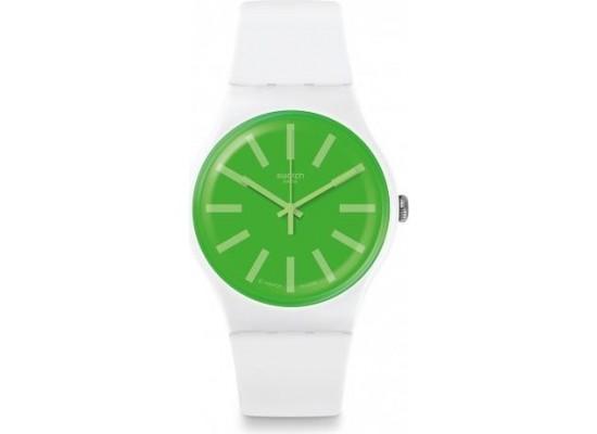 7c9c87cd9 اشتري ساعة سواتش بعرض تناظري مع حزام من المطاط للجنسين - ٤١ ملم - أبيض (