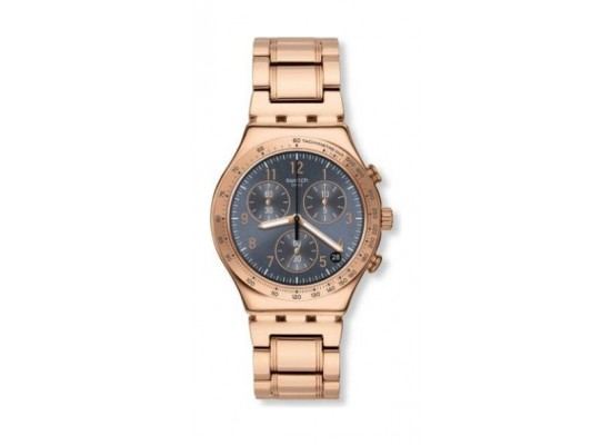 Swatch 40mm Gent's Chronograph Metal Watch (SWAYCG418G) - Rosegold