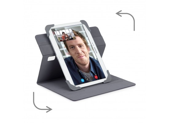 """Targus """"Fit N' Grip"""" Rotating Universal Case for 7-Inch Tablet (THZ66204GL) - Grey"""