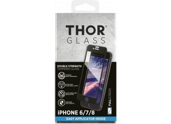 Thor Tempered Glass Protection For iPhone 8/7 / 6s / 6 (33739) - Black
