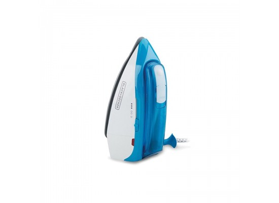 Black+Decker Dual Voltage Travel Steam Iron (TI250-B5) - Blue
