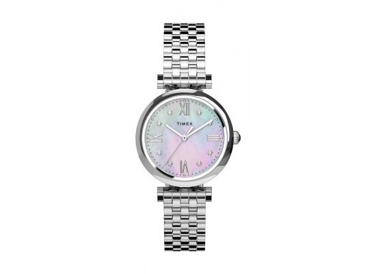 Timex 28mm Ladie's Analog Metal Watch - (TW2T78700)