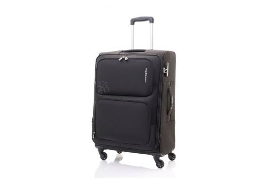 Kamiliant Toro 80CM Spinner Soft Luggage (82WX09003X) - Black