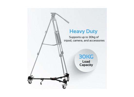 Promate Camera Tripod Dolly Extendable With Adjustable Legs & Wheels