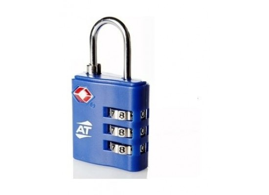 American Tourister Tsa 3 Dial Combination Lock - Blue