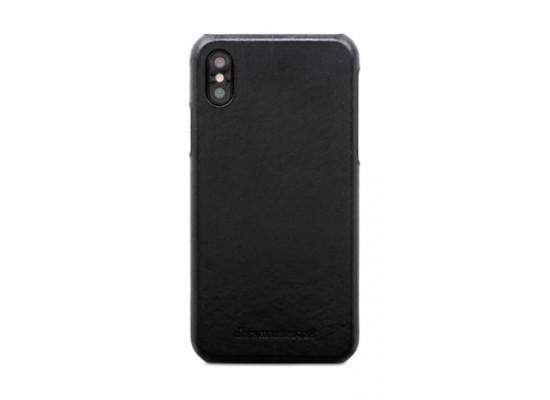dbramante1928 Tune Series iPhone X Leather Case (TUI8GTBL0848) - Black