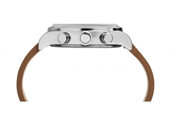 Timex Waterbury Traditional 42mm Chronograph Unisex Leather Watch - TW2R70900