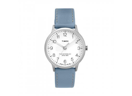 Timex Waterbury 36mm Analog Ladies Leather Watch (TW2T27200)
