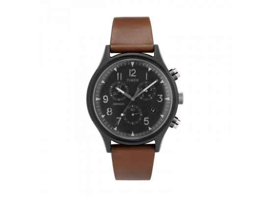 Timex 42mm Indiglo Analog Unisex Leather Watch (TW2T29600)