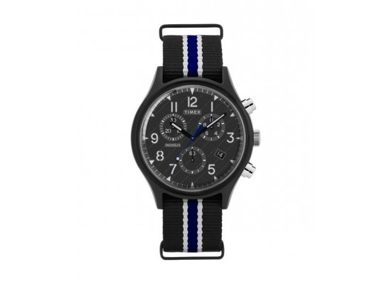 Timex 42mm Indiglo Analog Unisex Fabric Watch (TW2T29700)
