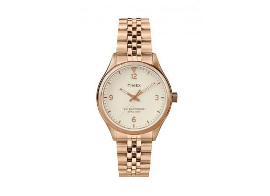 Timex Waterbury 34mm Analog Ladies Metal Watch (TW2T36500)