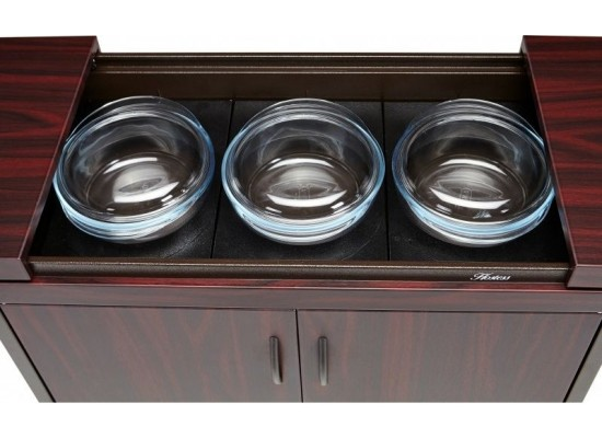 Wansa Food Warmer Trolley(TY-9001) - Mahogany
