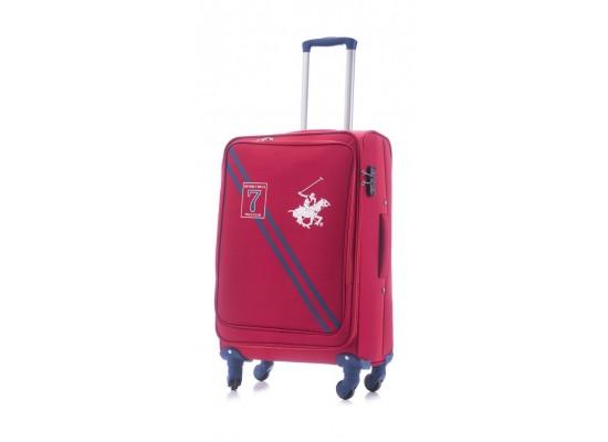 U.S Polo 66CM Medium Softcase Luggage - Seven Red