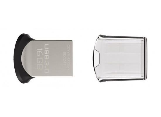 Sandisk Ultra Fit CZ43016GGAM46 16GB USB 3.0 Flash Drive top view