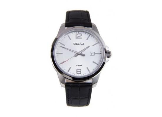 Seiko UR249P Gents Quartz Analog Watch Leather Strap – Black