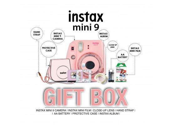 Fujifilm Instax Mini 9 Camera + Case + Album + Film + Accessory - Flamingo Pink